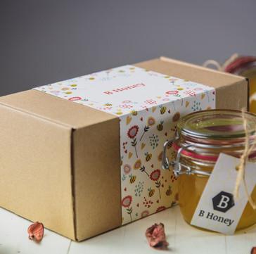 B Honey kutija sa dve tegle