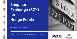 Вебинар Singapore Exchange (SGX) for Hedge Funds