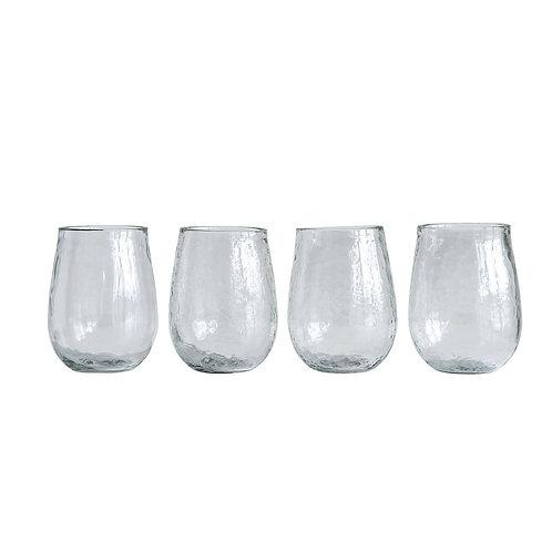 4 Tate textured wine glasses