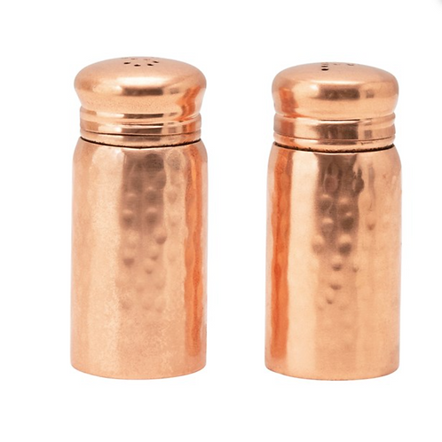 Hammered Copper S&P Shakers