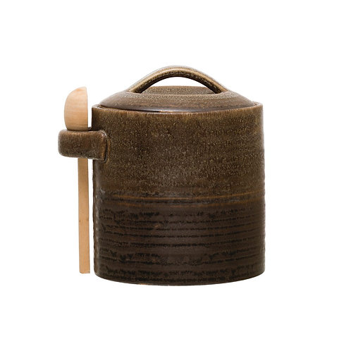 Tulum Stoneware Canister