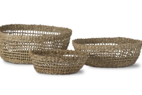 Longshore Rattan Baskets set of 3