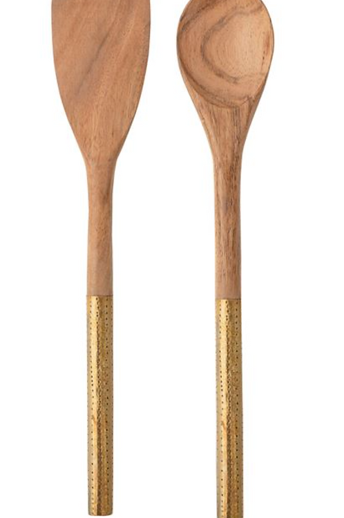 Lilly Brass Serving Spoons