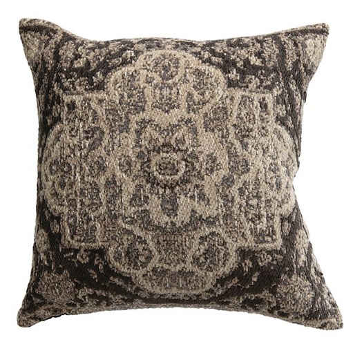 Afton Gray Chenille Pillow 18in