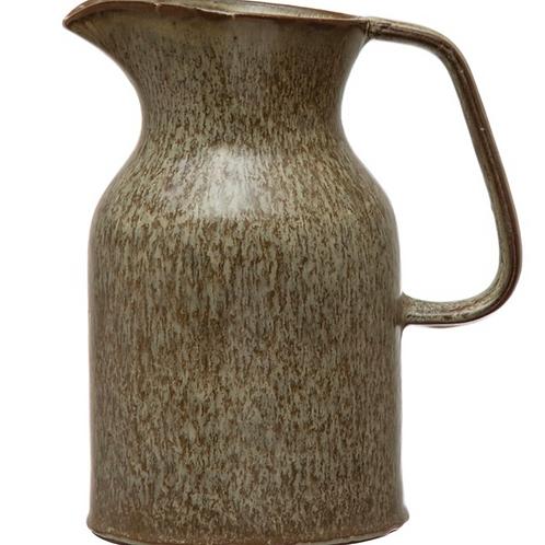 Brown Stoneware Pitcher
