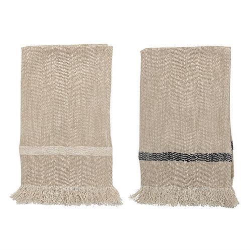 Lindsay Fringe Tea Towel Set of 2