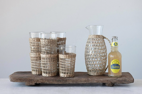 Catalina Rattan Tumbler (set of 2)