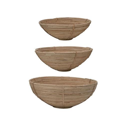 Woven Cane Bowls