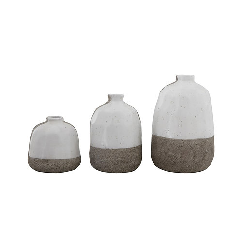 Alina Vase set of 3 textured POTs