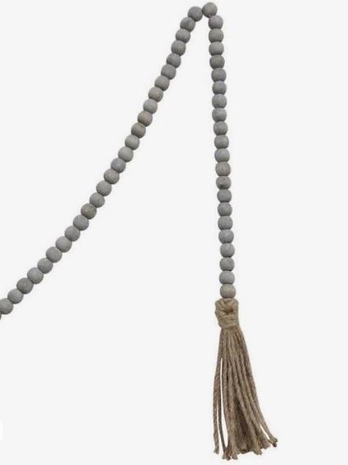 Mesa Gray Wood Jute Beads