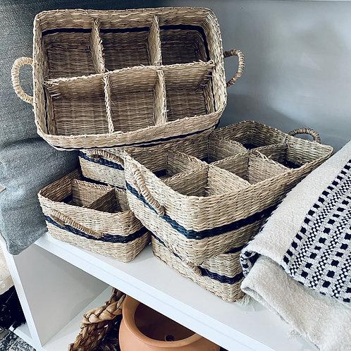 Striped Beverage Basket