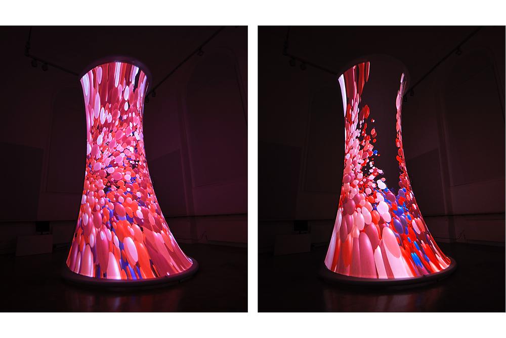 Installation view of an interactive art piece in Victoria & Albert Museum, 2019