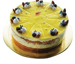 No Baked Eggless Passion Fruit Cheese Cake.jpg