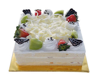 Assorted Fruit With Chatilly Cream cake.