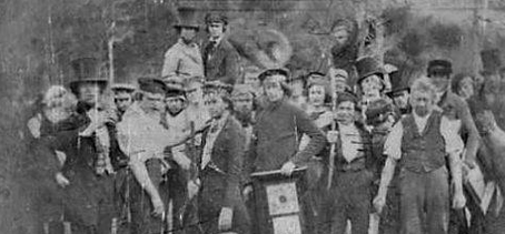 Workers at the Eli Terry Clock Factory 1850