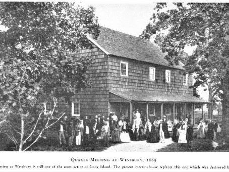 Photo and 1902 Fire New Clip Westbury Quaker Meeting house Long Island New York