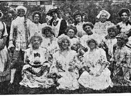 Photo Deane Winthrop House Gathering of Literary Club 1913 Colonial Style