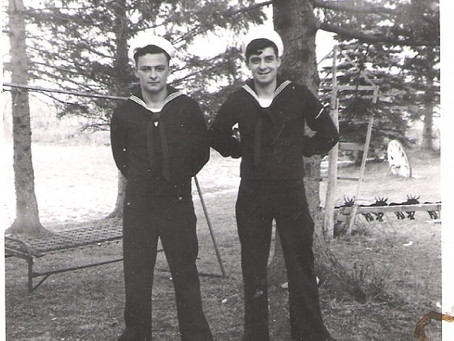 Photo Brothers George Granville Short Jr and Russell Hammond Short in Navy Uniform
