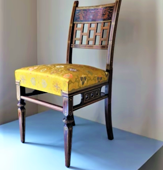 Video of Rail Road Magnate Mark Hopkins House Nob Hill Side Chair made by Herter Brothers