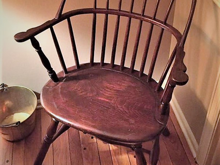 Americana Antique Relic Chair used by Captain George Little on board his ship cabin.