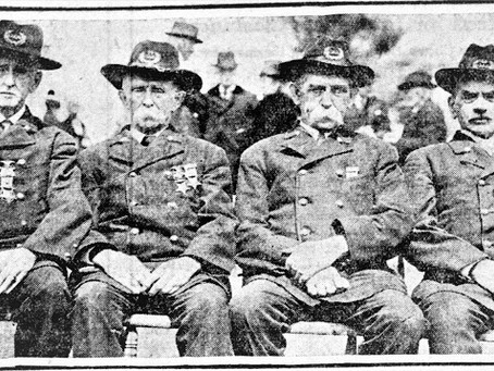 Photo Union Civil War Vets Henry Lay, Balch Brothers, Sam Brookings and William Carlton Gather 1923