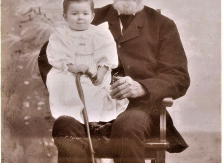 Photo Manley Clough and grandson Harry Clough NH