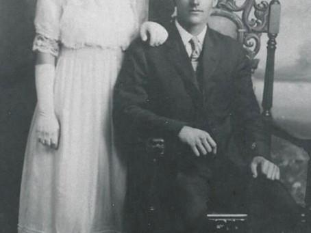 Photo David Schaefer and Augusta Ziemann Wedding 1917