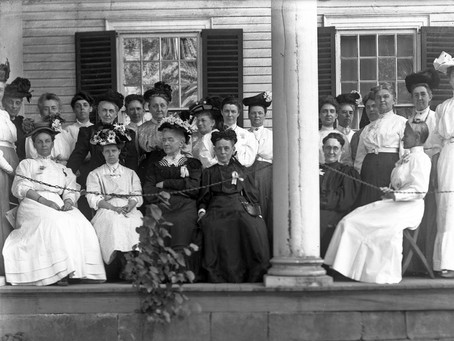 Photo: Abigail Wolcott Ellsworth Daughters of the American Revolution in Windsor 1903