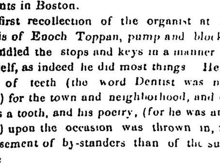 Enoch Toppan was never without a rhyme