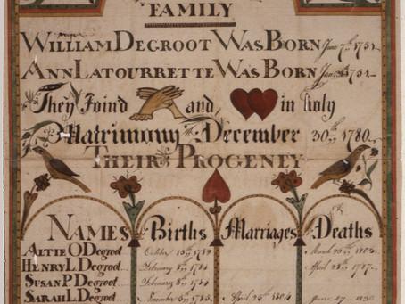 Frakturs: American Folk Art with Genealogical Clues