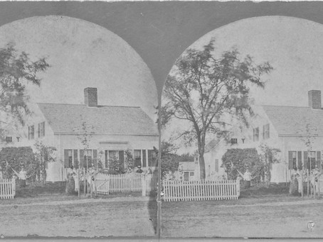 Stereoscope Photo Stearns-Eastman Home 315 Elms Street Amesbury Massachusetts