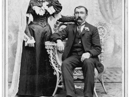 Photo Wedding Anna Sophia Sander and William Schmidt 1896