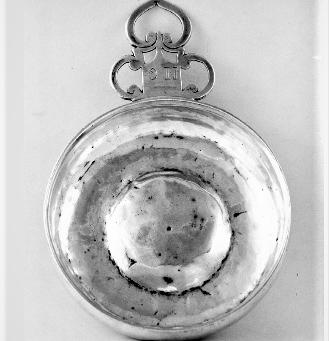 17th Century Silver Porringer made by Jeremiah Dummer for Gardner Turner Bowditch Family