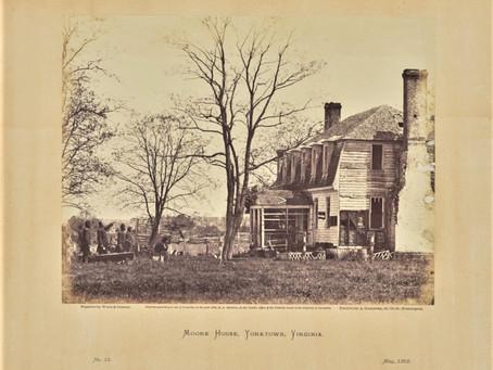 Photo: Moore House Yorktown, Virginia 1862 Union Troop Inspection after Siege of Yorktown