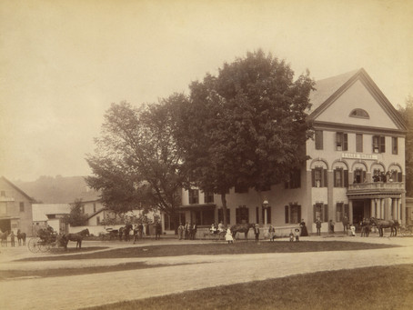 Photo Outside the Eagle Hotel Charlestown New Hampshire