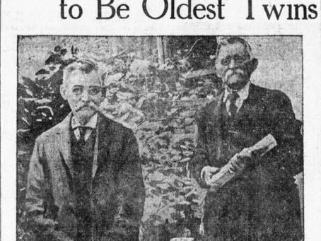 Photo: Twin Brothers Maynard and Albert Russell of Ipswich Massachusetts 1920