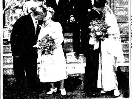Colby-Brown-Clark-Hendrickson Double Wedding 1948 NH
