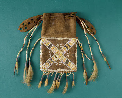 Indian Hill Relic Seventeenth Century Pennacook Purse at Peabody Essex Museum Gift of Mosley Family
