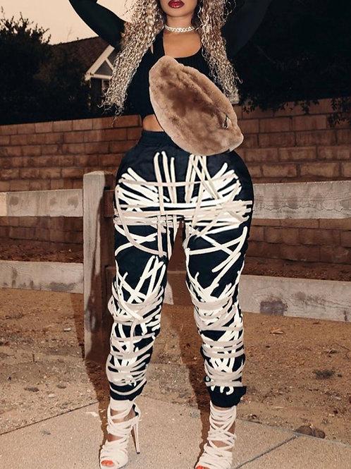 Tie Me up Rope Printed Pants