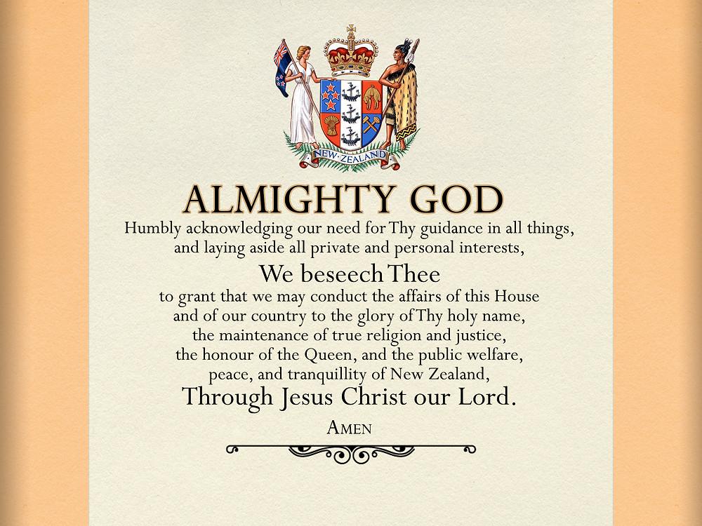 NZ parliamentary prayer since 1962
