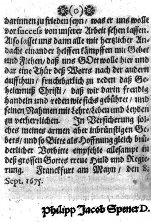 German text of Pia Desideria