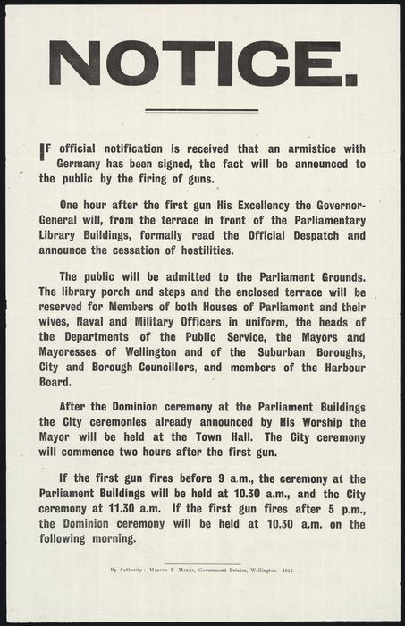 A notice outlining the ceremony to take place if the armistice has been signed.jpg
