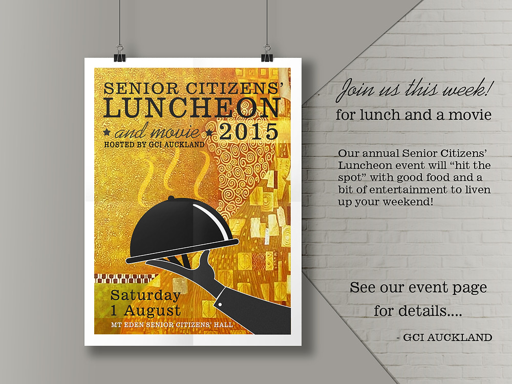 GCI Senior Citizens' Luncheon poster 2015