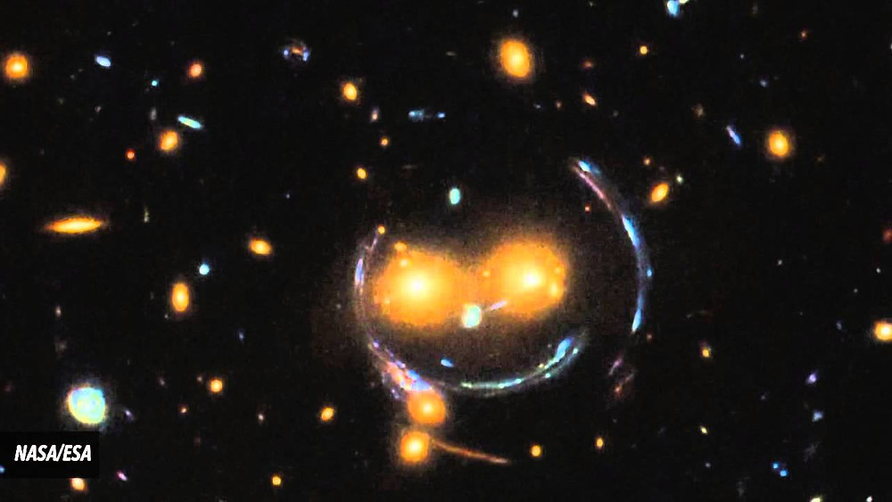 NASA photo of a smile in space