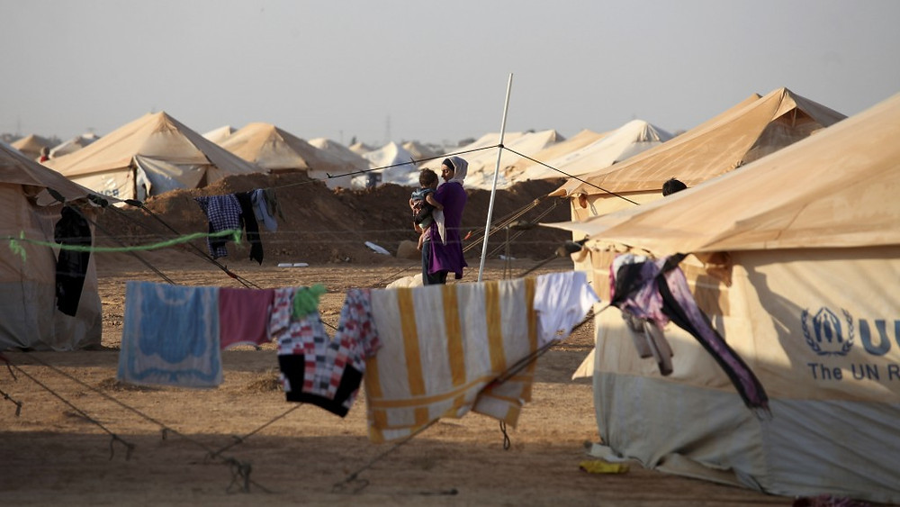 Mideast-Jordan-Syrian_refugee camp (photo credit: Mohammad Hannon/AP).jpg