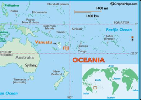 Greetings from Fiji and Vanuatu