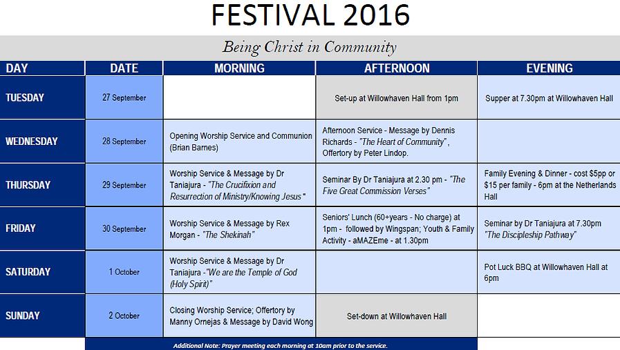 GCINZ Festival Programme 2016