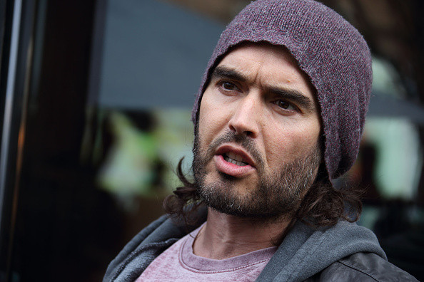 Russell Brand opens the Trew Era Cafe on March 26, 2015 in London, England.