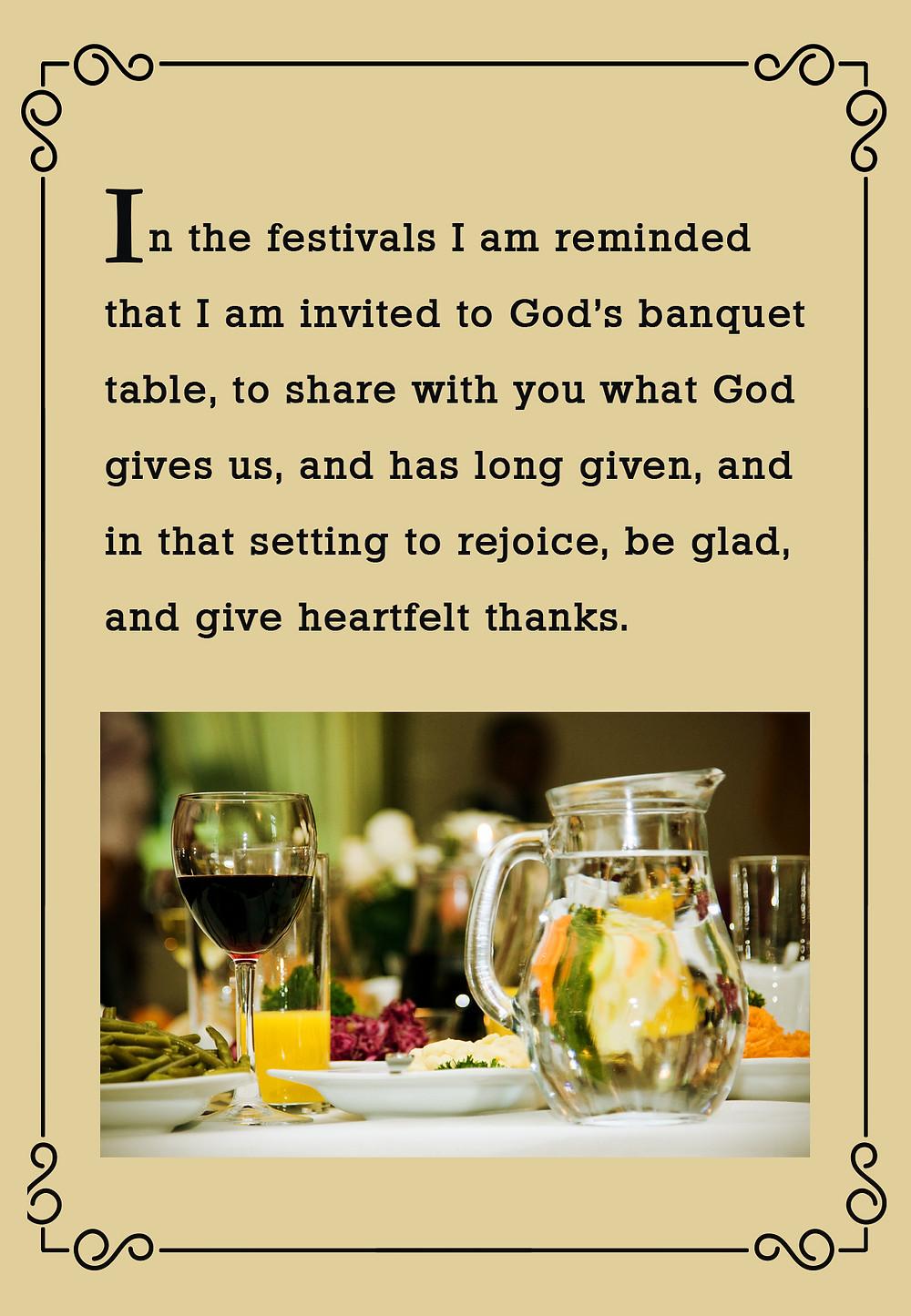 Festivals God's Banquet Table
