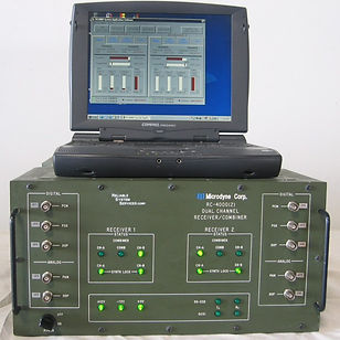 RC-4000 DUAL CHANNEL PORTABLE TELEMETRY  RECEIVER WITH COMBINER - Green